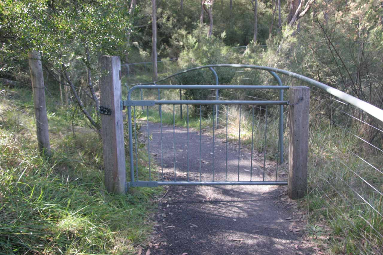 The gate we had to get through in order to reach the precipitous part of the Oxley Walk