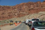 Arches_NP_004_04192017 - The big line of cars waiting to get into Arches National Park