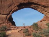 Arches_NP_005_06202001 - Looking puny before the North Window
