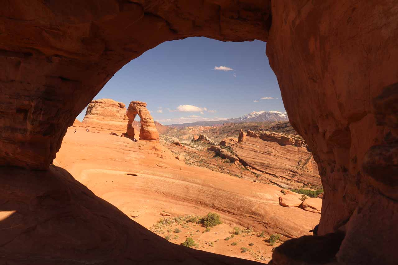 Moab was the base of visits to Arches National Park, where we could see the rock formations that the park was known for such as Delicate Arch (the Utah state symbol) backed by the La Sal Mountains