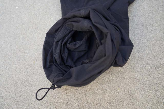 Closer look at the roll-up aspect of the Arc'teryx Gamma LT hiking pants