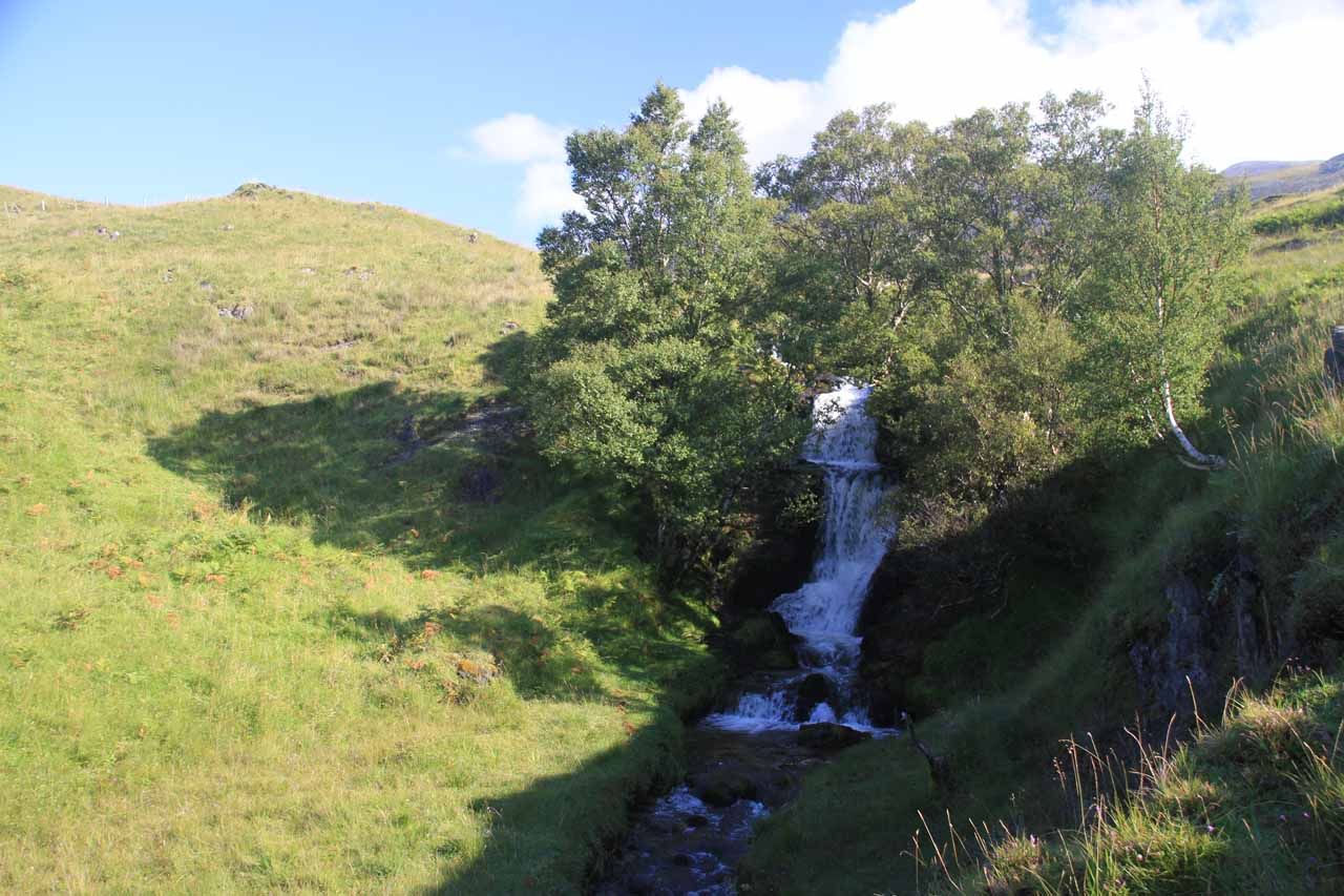 The Ardvreck Castle Waterfall