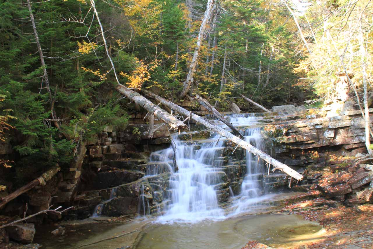 The diminutive but attractive Bemis Falls on the Bemis Brook Trail Detour
