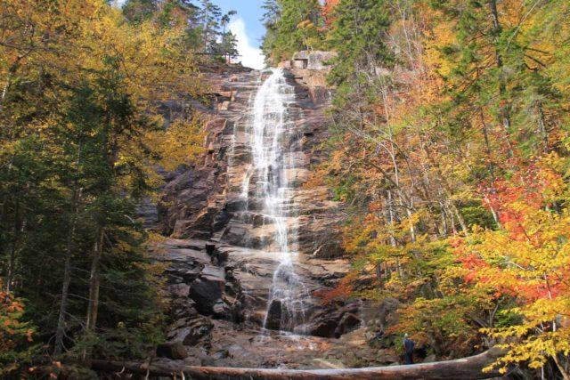 Arethusa_Falls_079_10022013 - Arethusa Falls flanked by Autumn colors
