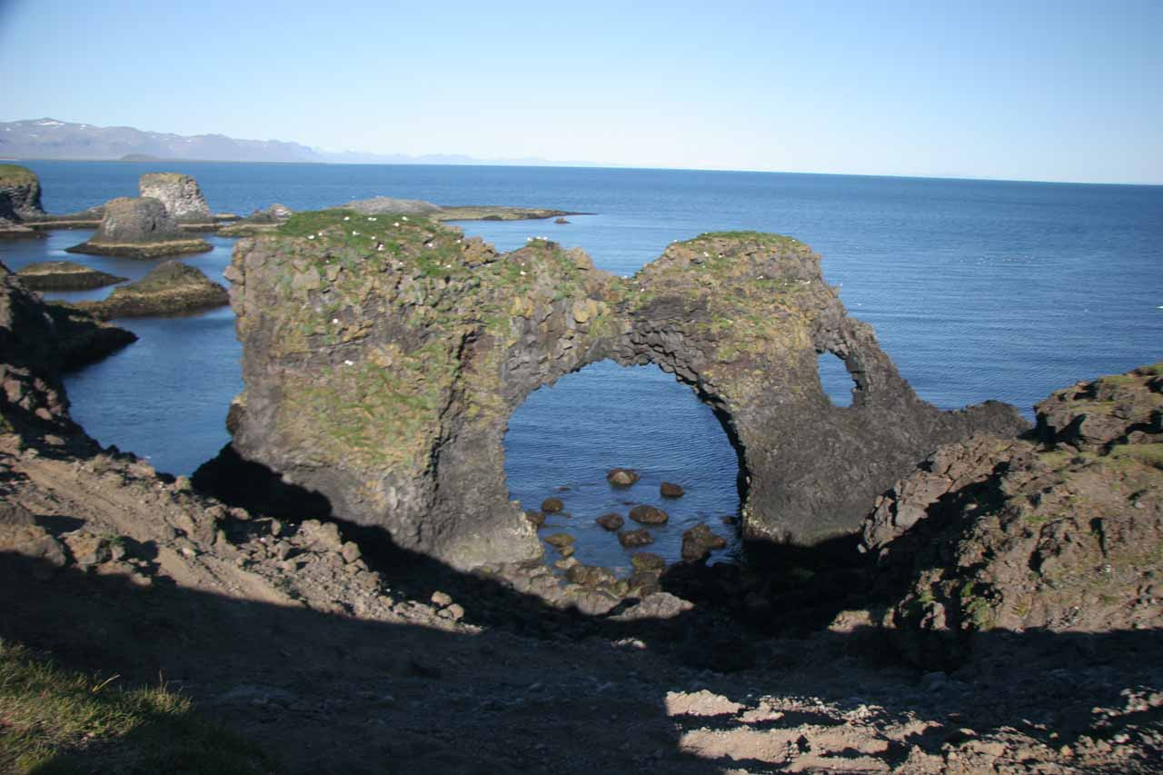 Roughly 30km from Klukkufoss were the sea arches at Arnarstapi