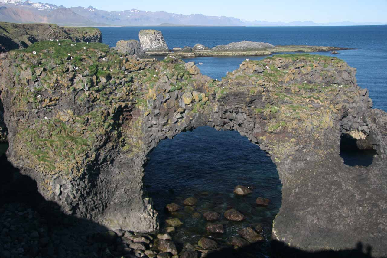 And to the south of Djupalonssandur, we saw beautiful sea arches near the village of Arnarstapi