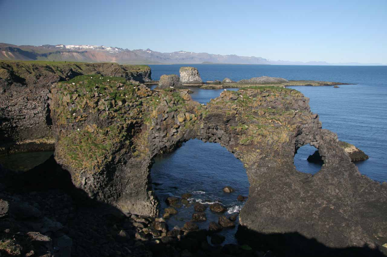 The One of the sea arches at Arnarstapi
