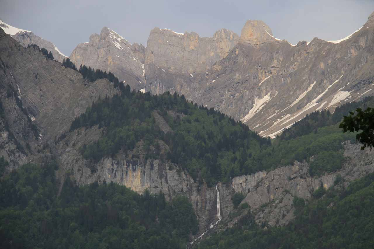 When we looked across the valley from Cascade d'Arpenaz, this was the view we were treated to