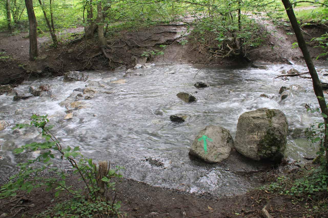 The stream crossing