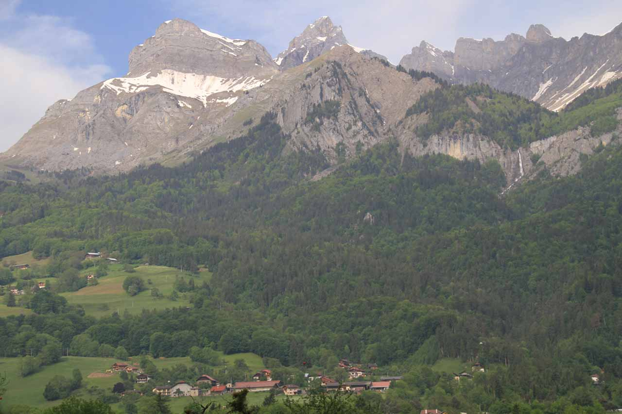 Looking across the valley at more beautiful alpine scenery