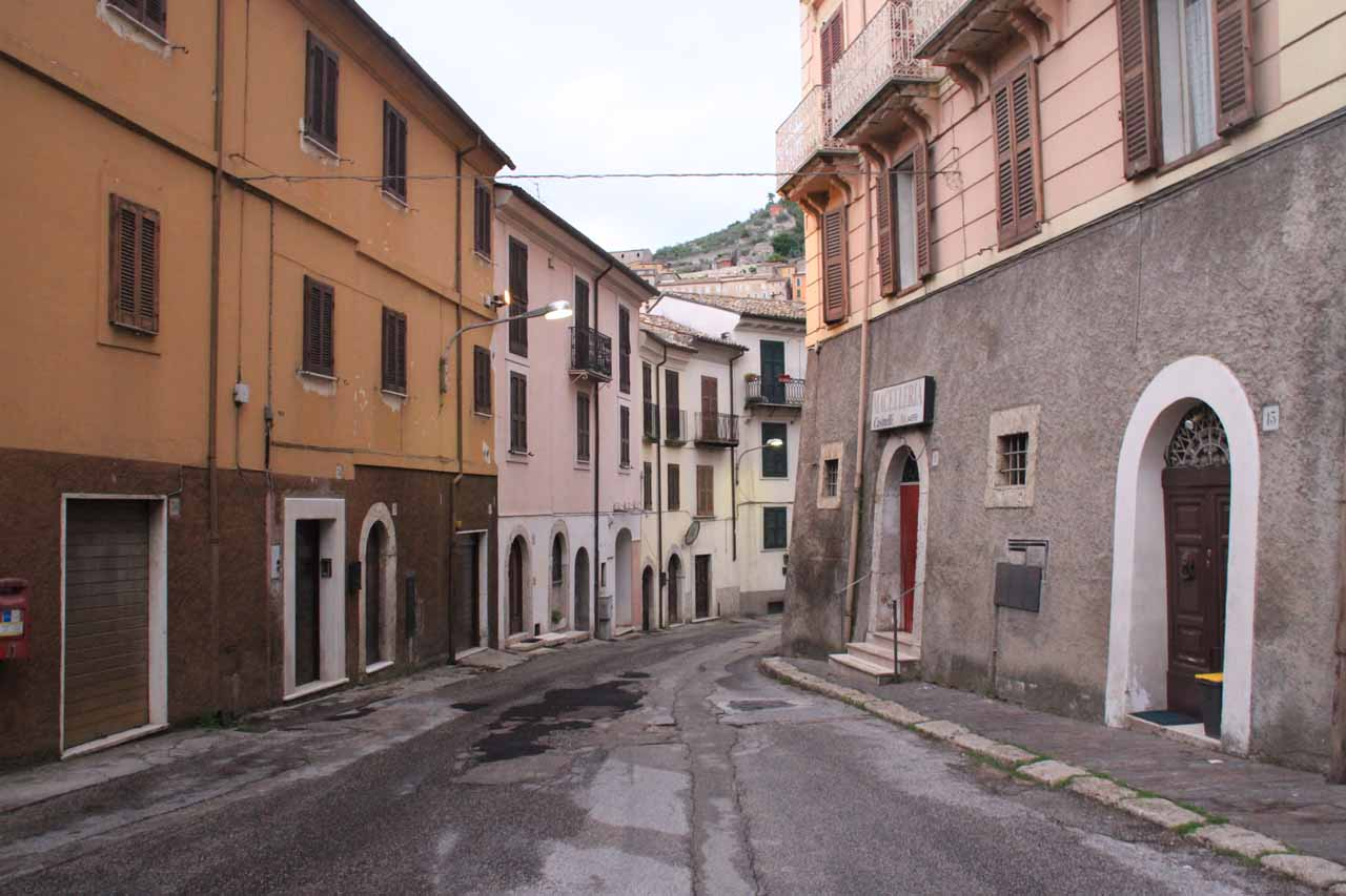 Walking the quiet streets of Arpino