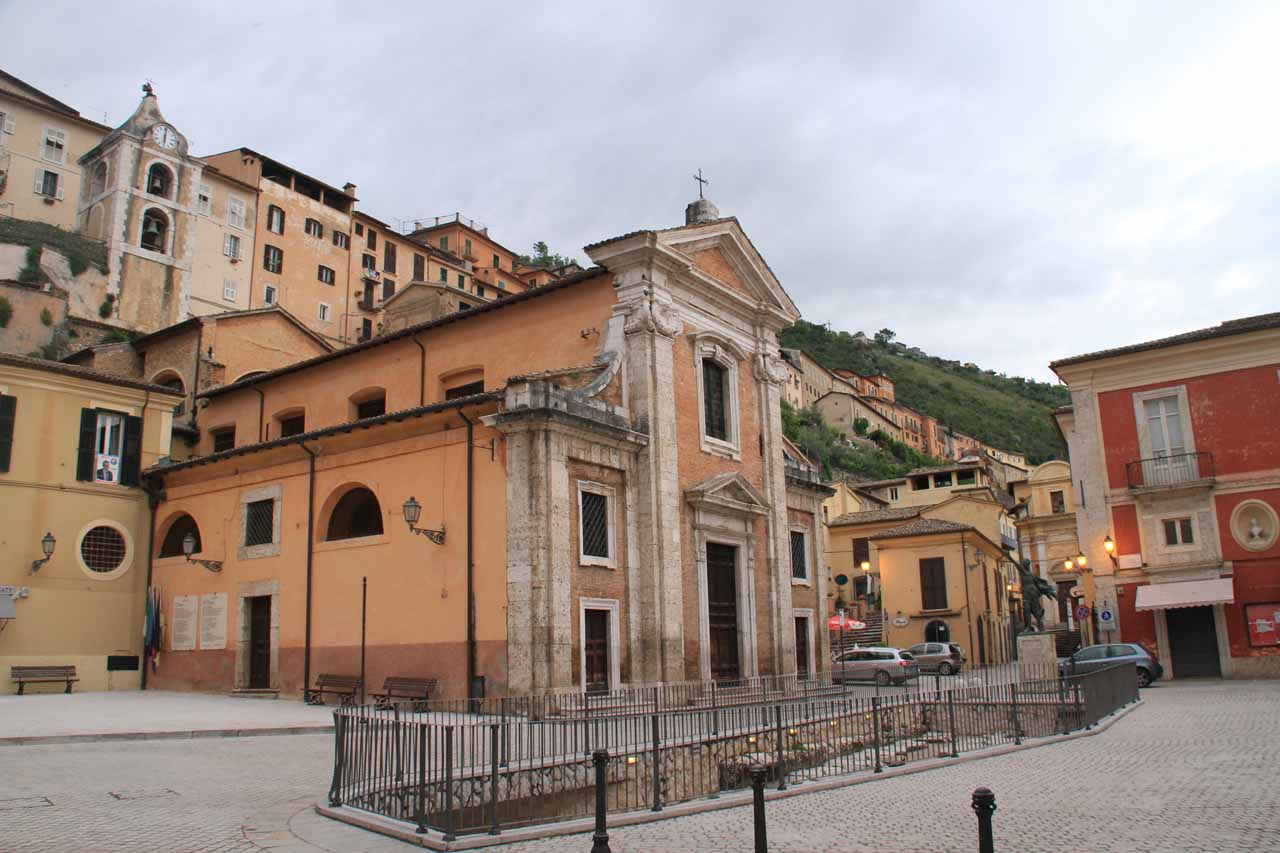 The main town square (piazza) in Arpino