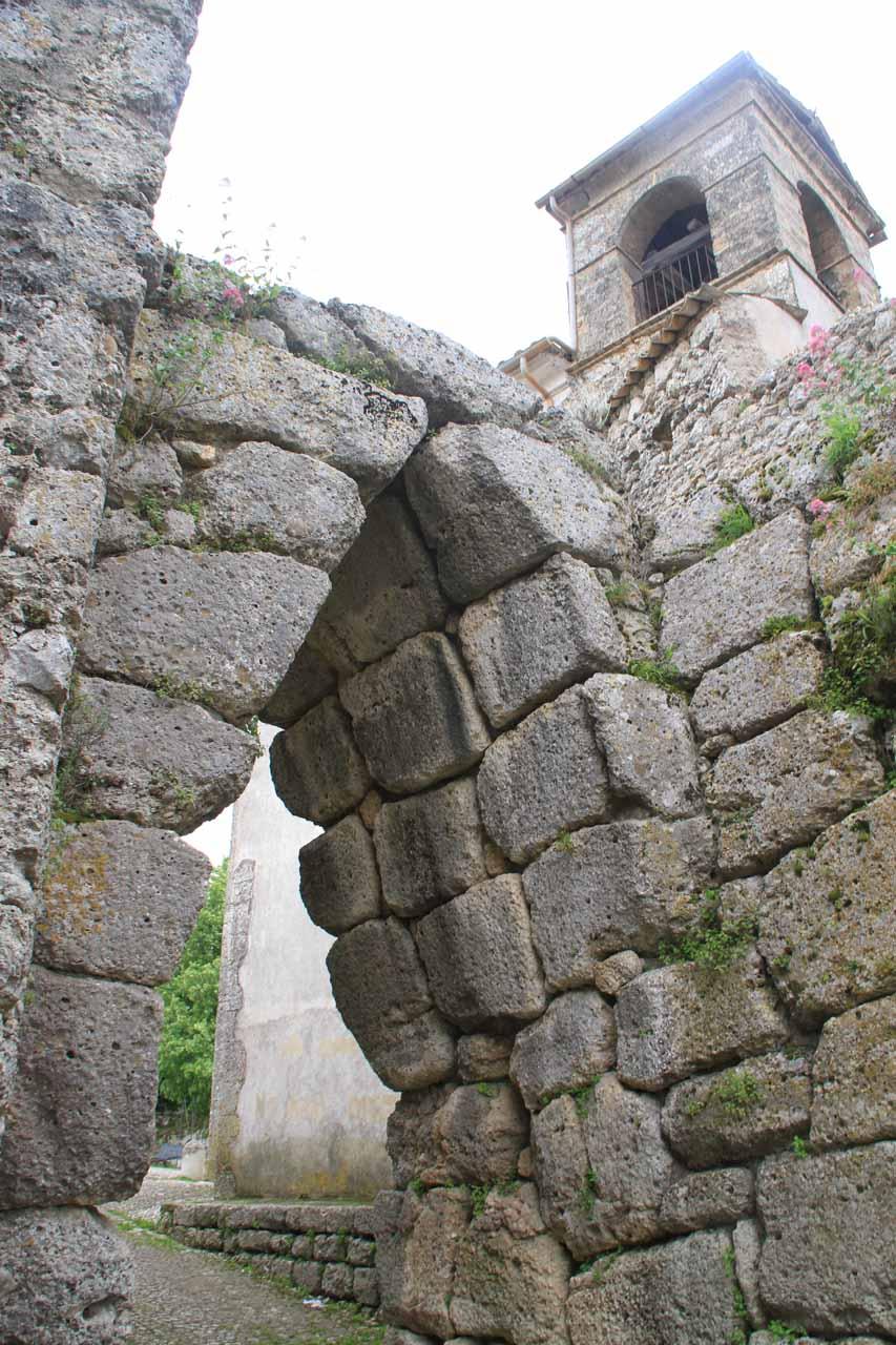 The historical arch entrance at Civitavecchia