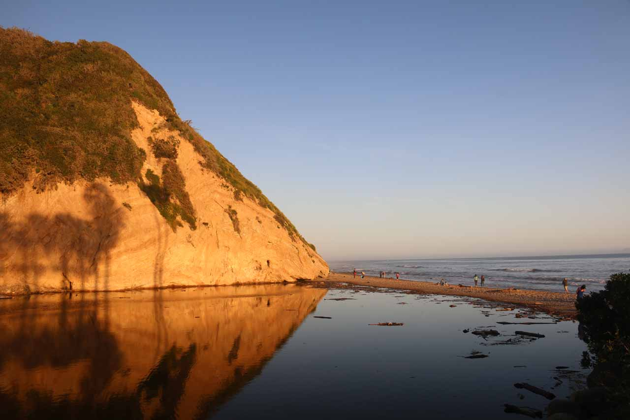 Beautiful reflections in Arroyo Burro Creek as we faced the Arroyo Burro Beach just in time for sunset