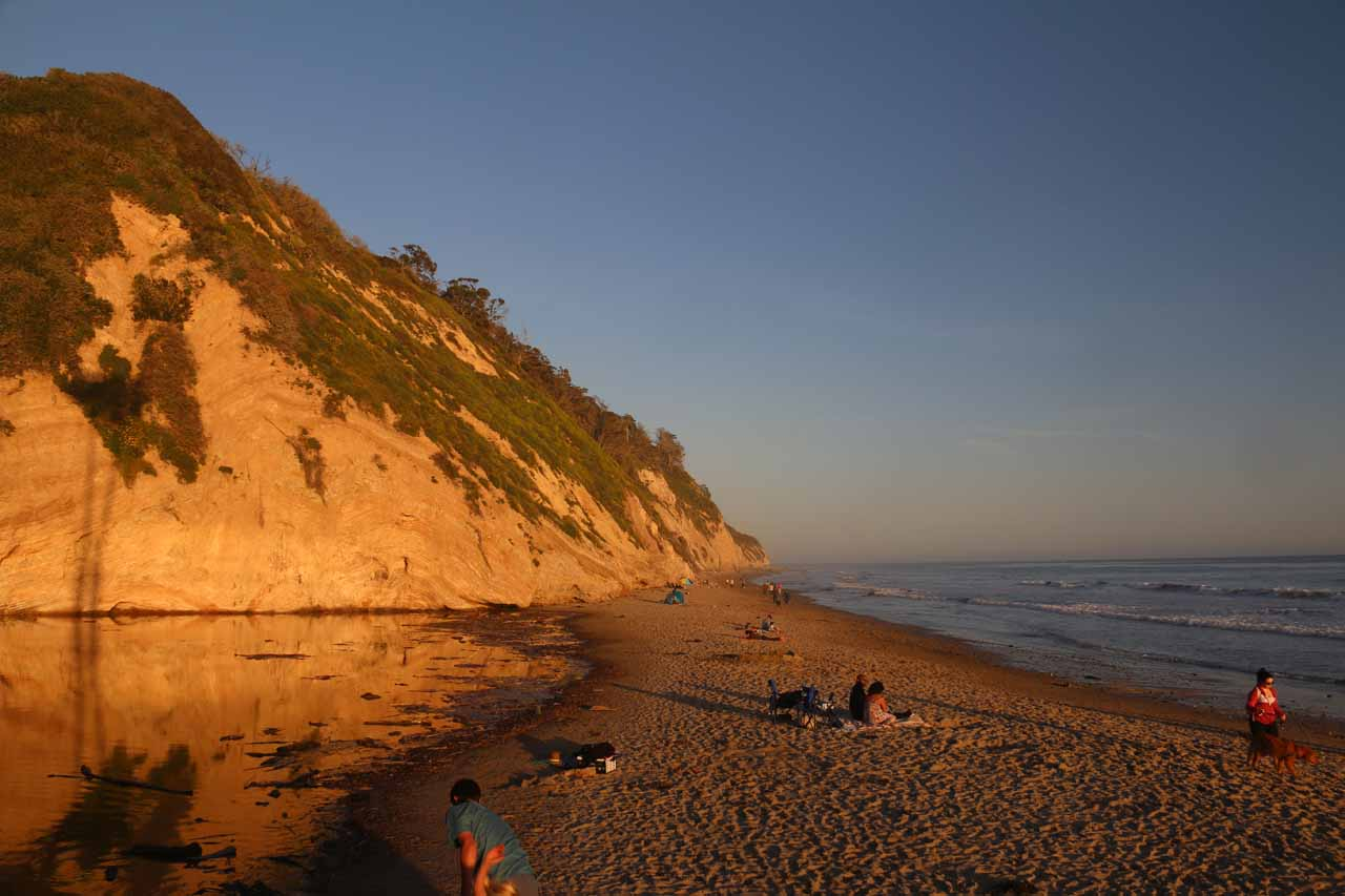 Beautiful scenery at the Arroyo Burro Beach or Hendry's Beach in the late afternoon
