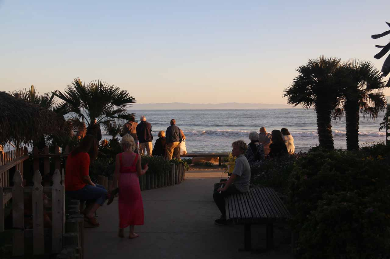 People waiting to be seated at the Boathouse in Arroyo Burro Beach
