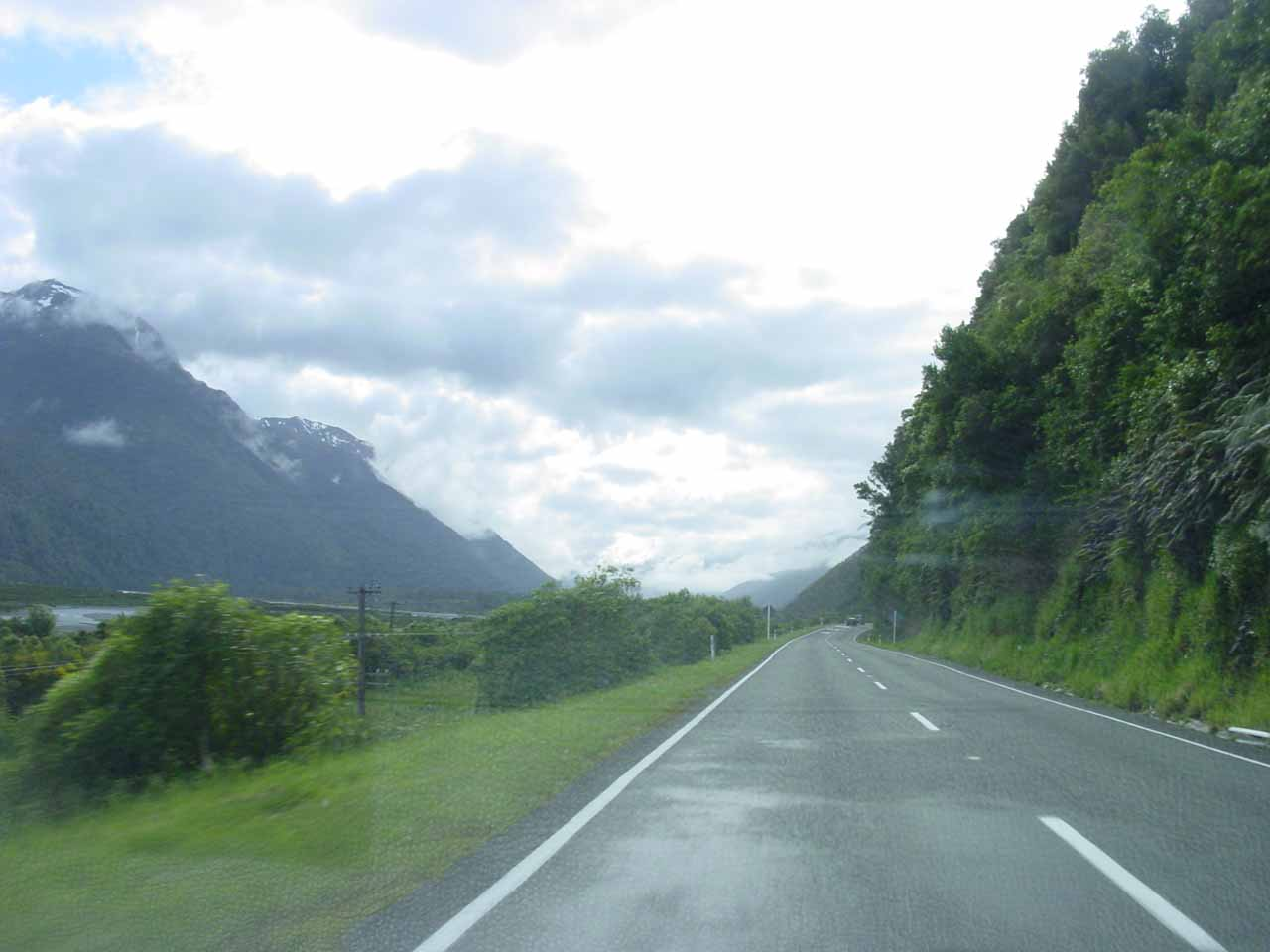 Driving along the Arthur's Pass Highway (SH73) as we were leaving the Kumara Junction