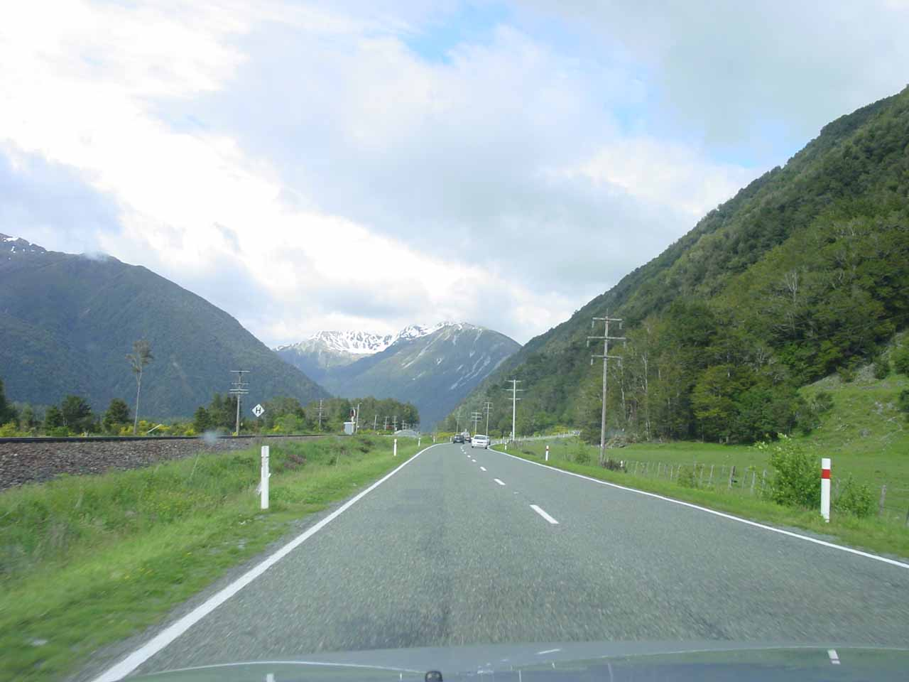 Driving along the Arthur's Pass Highway (SH73) as we were headed towards Otira