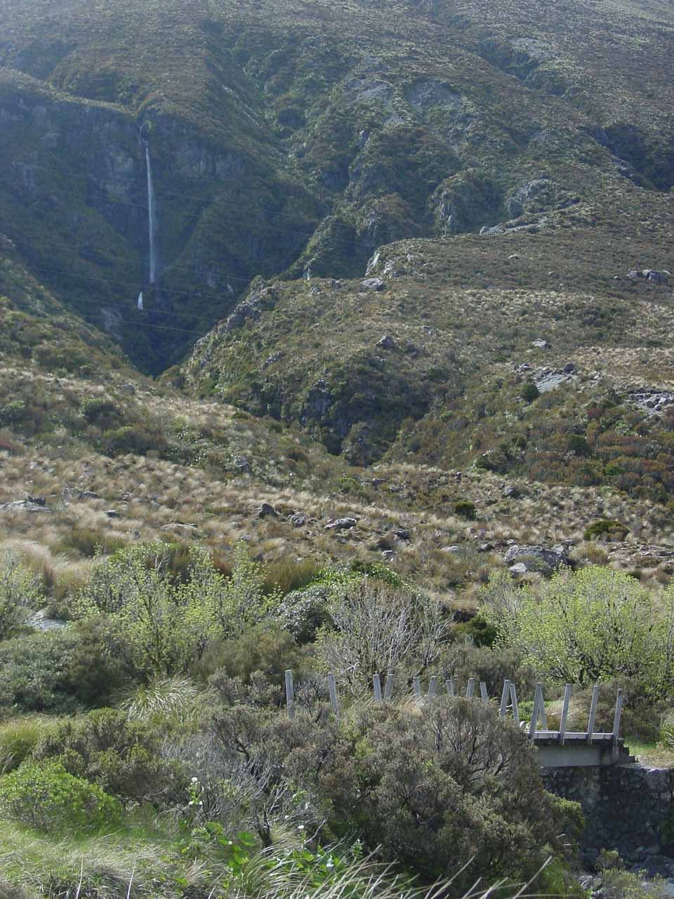 Contextual view of Twin Creek Falls as we continued driving further south along SH73