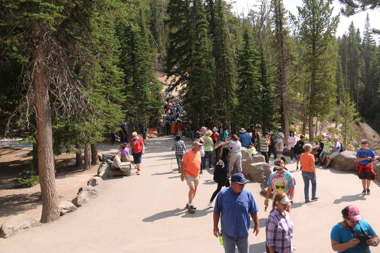 Another look at the wider walkways and viewing spots at Artist Point