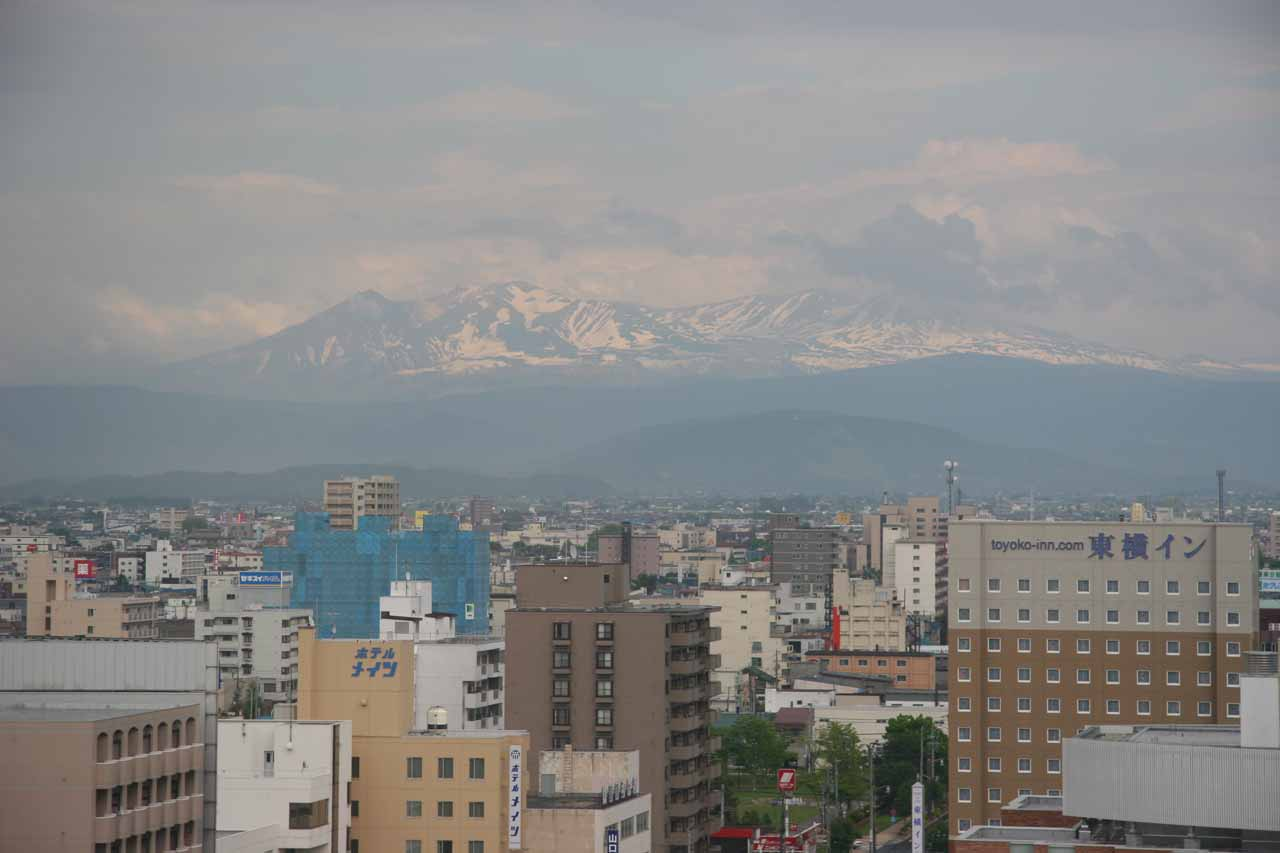 View of Mt Asahi from our hotel room