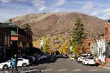 Aspen_015_10182020 - Looking towards another street with some nice Autumn colors in the background while strolling around in Aspen
