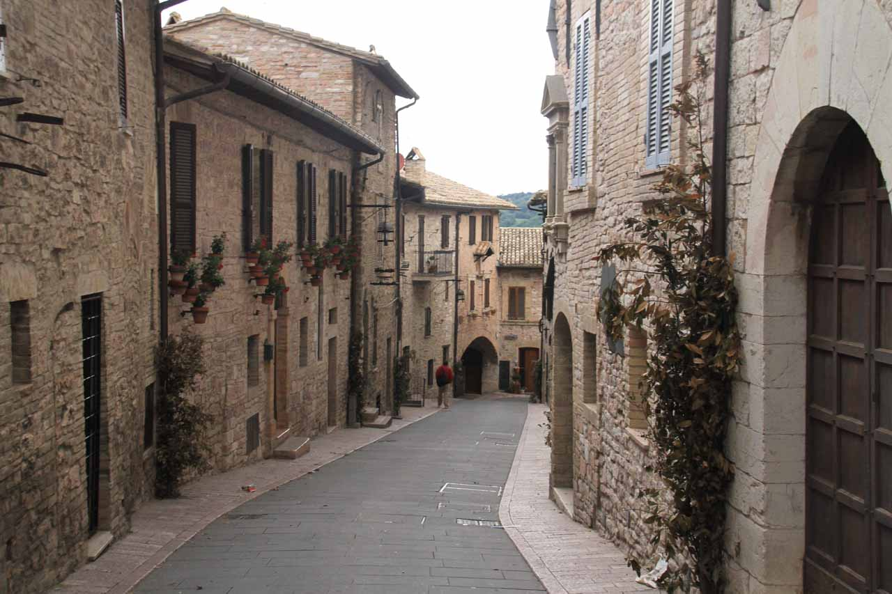 Some of the charming streets of Assisi