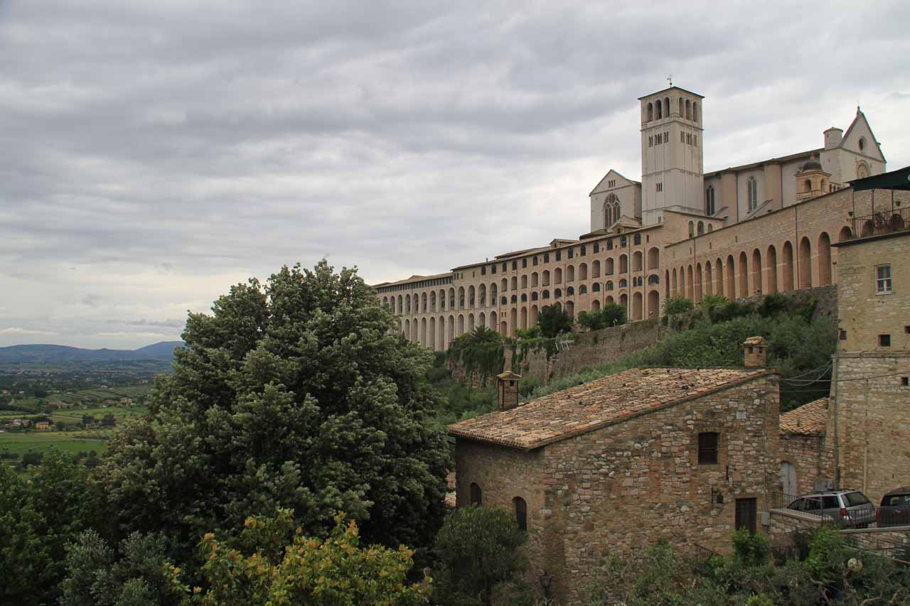 View of Assisi from outside its city walls