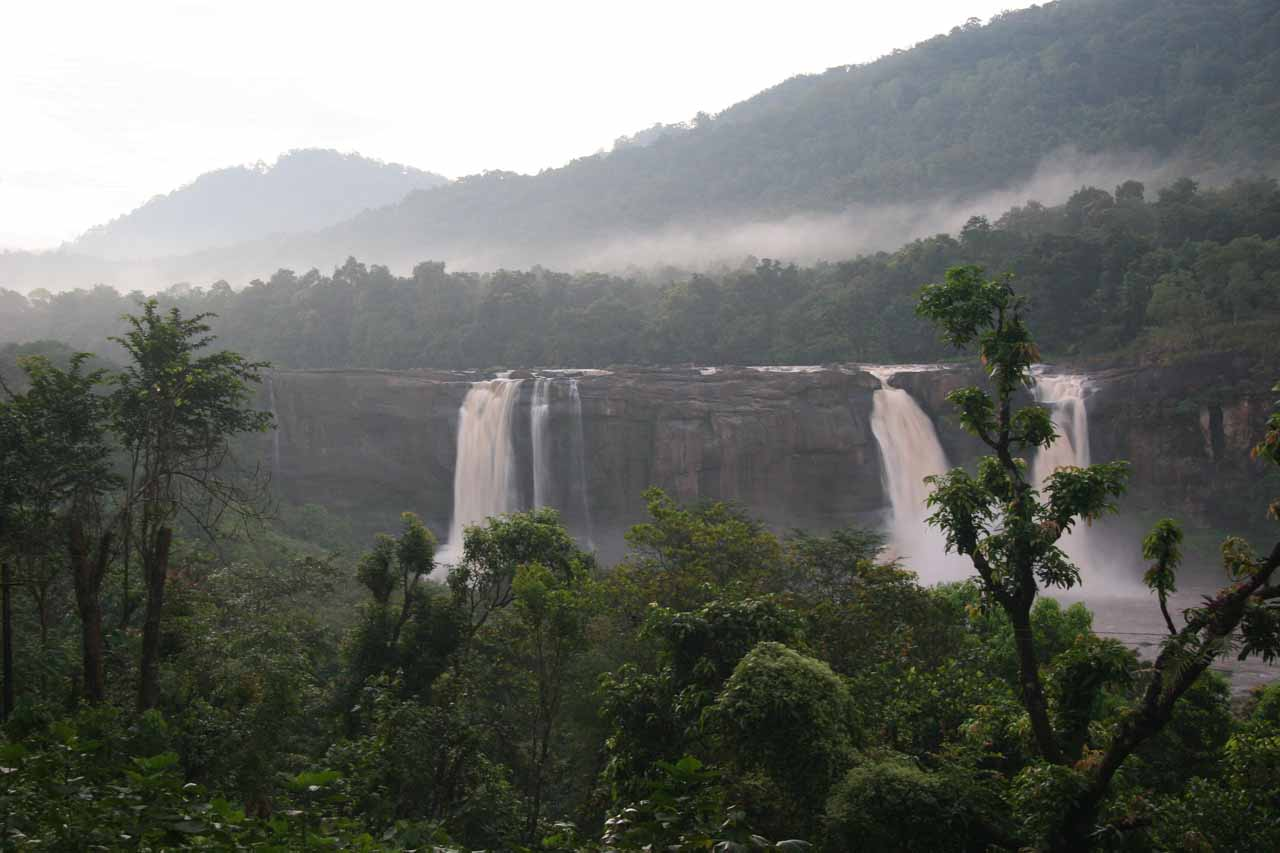 View of Athirappilly Falls from the balcony of our room