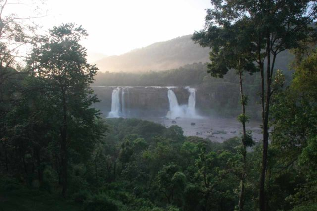 Athirappilly_Falls_068_11162009 - Early morning view of the Athirappilly Falls from the Rainforest Resort