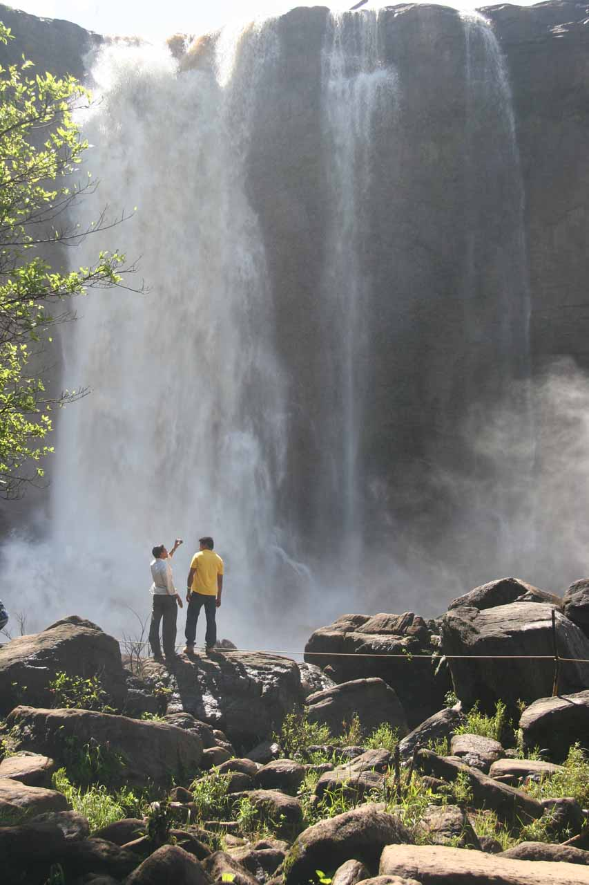 Some other folks who made it down to the base of Athirappilly Falls