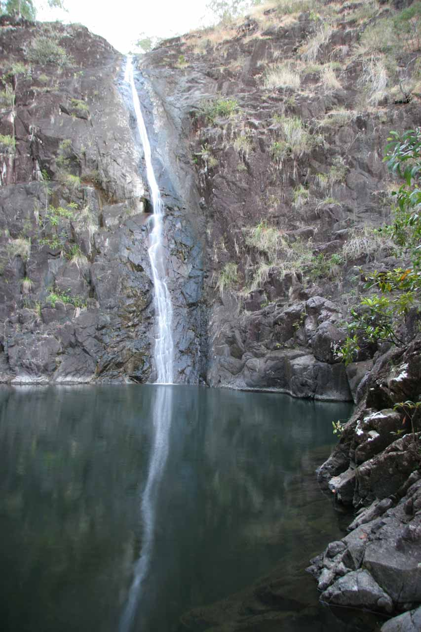 Attie Creek Falls reflected in its calm plunge pool