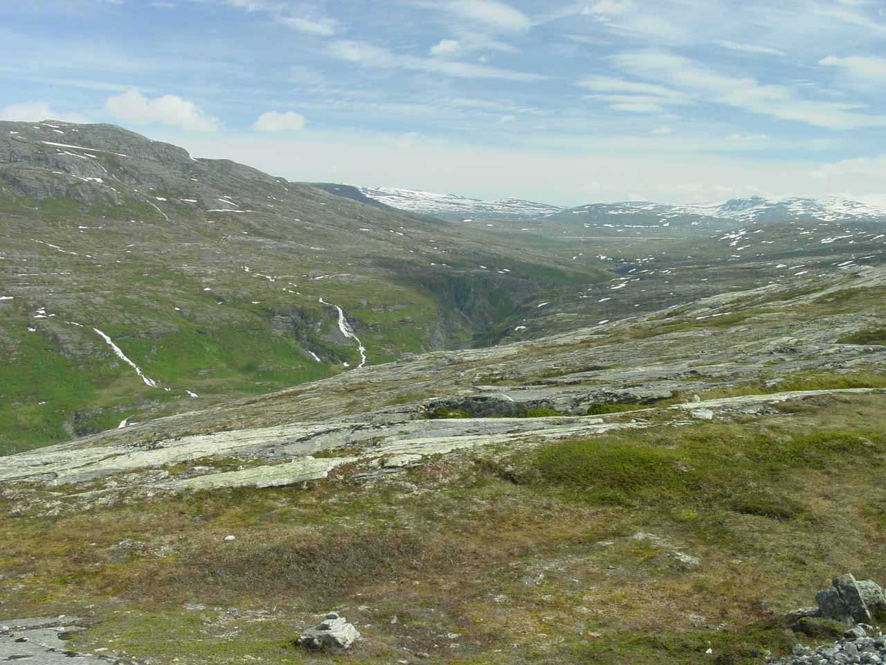 We still saw a few more waterfalls further down at the head of Eikesdalen as we went further up Aursjøvegen