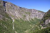 Aursjovegen_046_07162019 - Another look across the head of Eikesdalen towards the thin cascade while driving on the Aursjovegen up to the plateau
