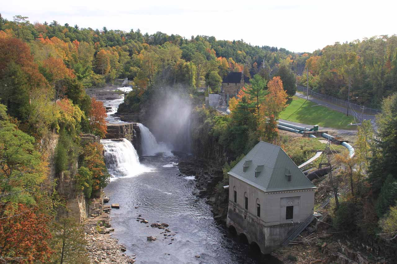 Context of the hydro infrastructure with Rainbow Falls