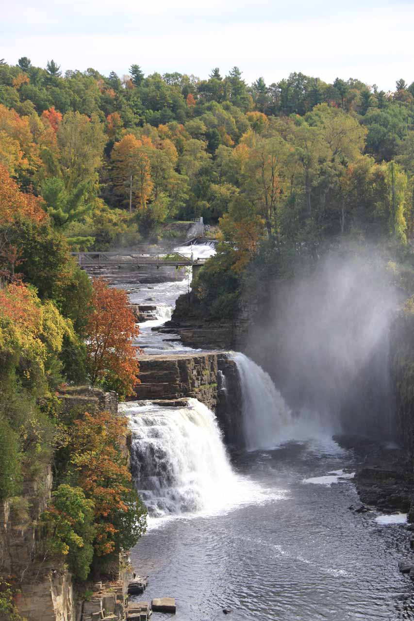 Rainbow Falls in Ausable Chasm