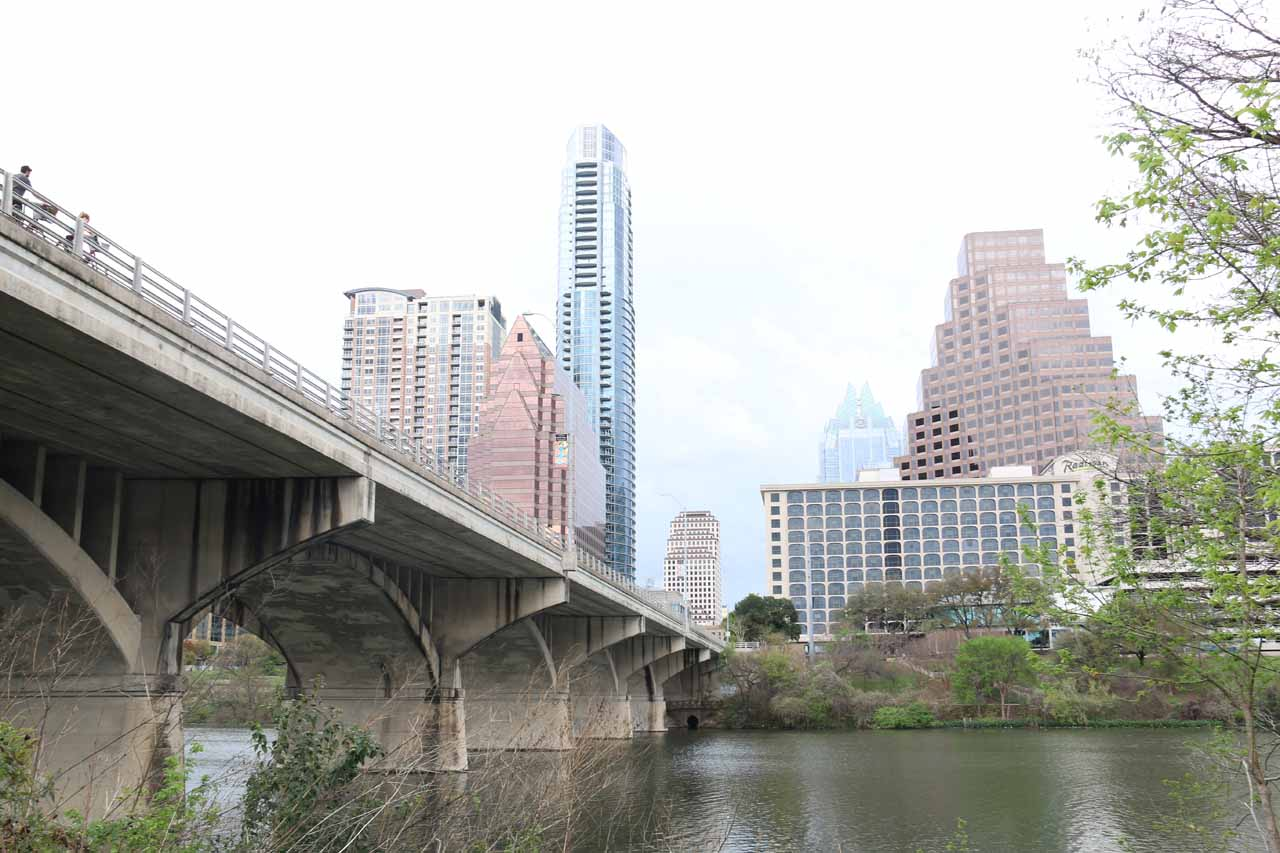 Austin was also home to the mass bat swarm from the South Congress Avenue Bridge, shown here. They'd typically come out at dusk though I read that August was the best month to see them