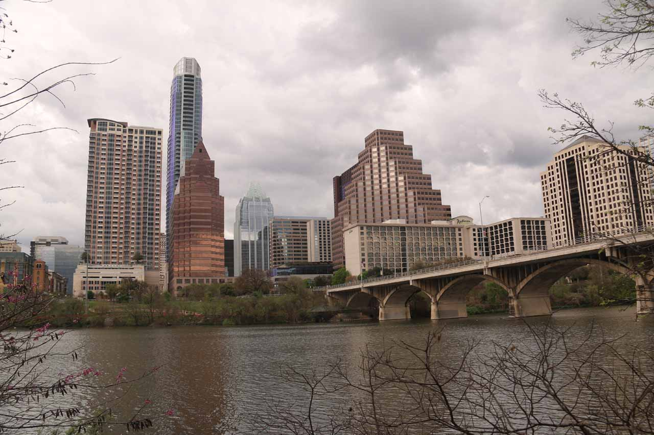 Our visit to Austin just happened to be during the SXSW Festival, which made the city very busy and happening, but we found more tranquility across the Colorado River where we got views like this
