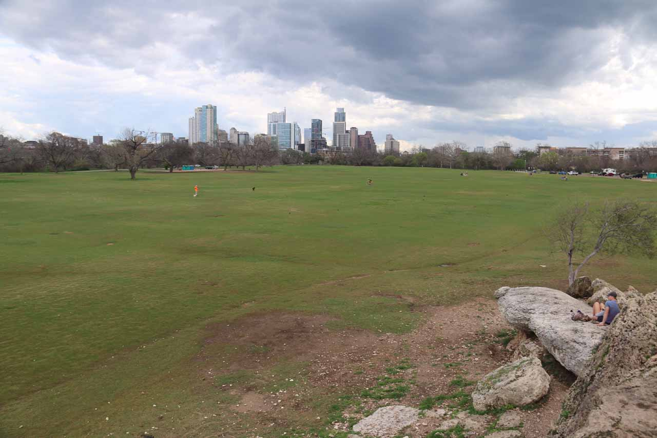 While it was a bit of a walk from downtown Austin, Zilker Park was a great place to relax and unwind in its massive greenspace when a festival wasn't taking place here