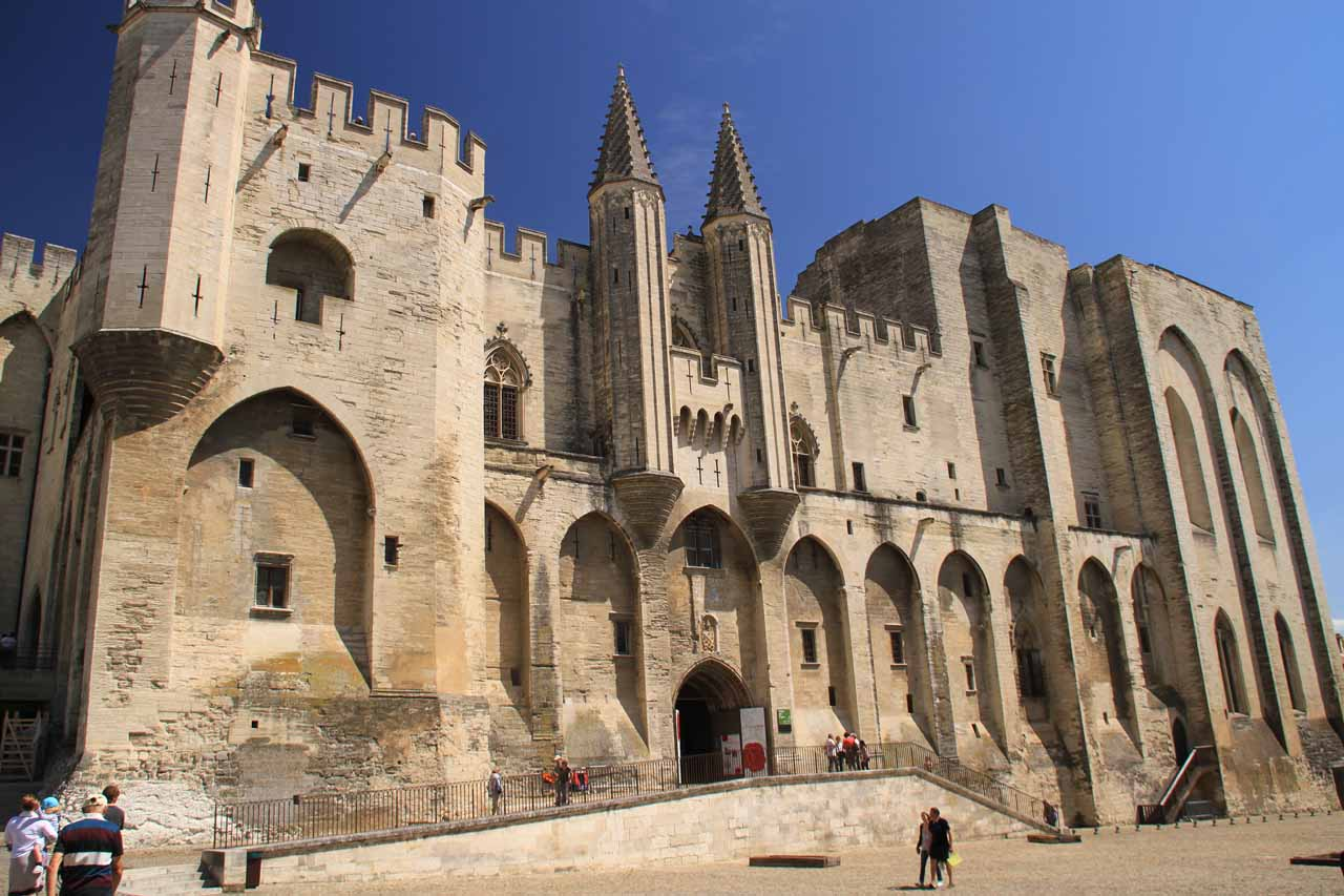 When we left Provence en route to Saut de la Pucelle, we could've taken the Alps route, but a forecast for bad weather kind of forced our hand to go through Avignon then head north to Grenoble