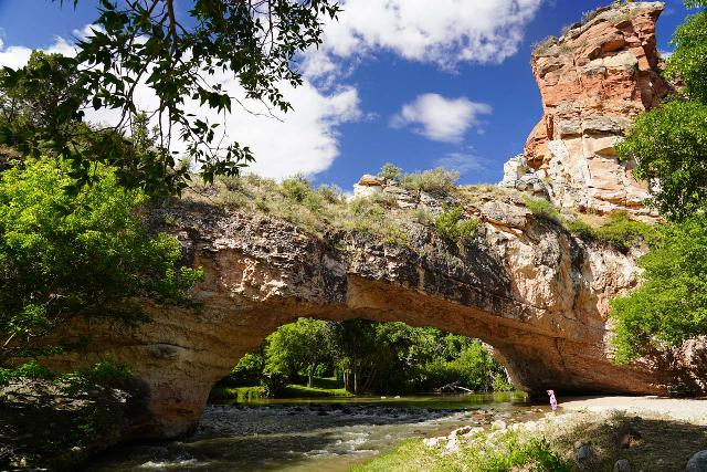 Ayres_Natural_Bridge_012_07292020 - Further east along the I-25 from Casper was the Ayres Natural Bridge, which was a nice park with a large aptly-named natural bridge arching over the La Prele Stream