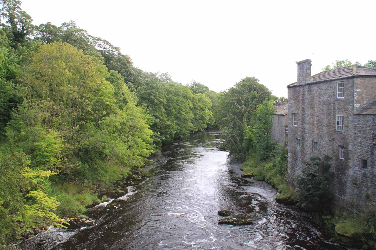 Looking downstream along the River Ure from the bridge