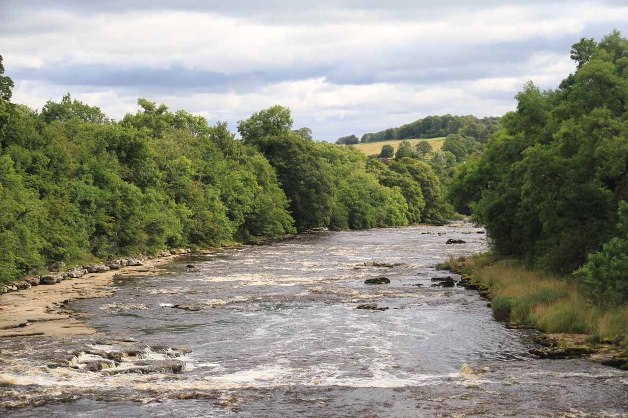 Lovely view of the River Ure downstream of the Lower Aysgarth Falls