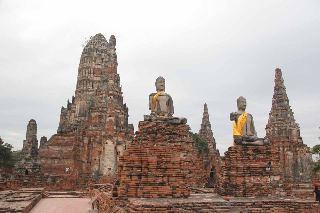 About 2 hours drive west of Khao Yai and Haew Suwat Waterfall are the riverside ruins of Ayutthaya, which featured ancient prangs and Buddha statues
