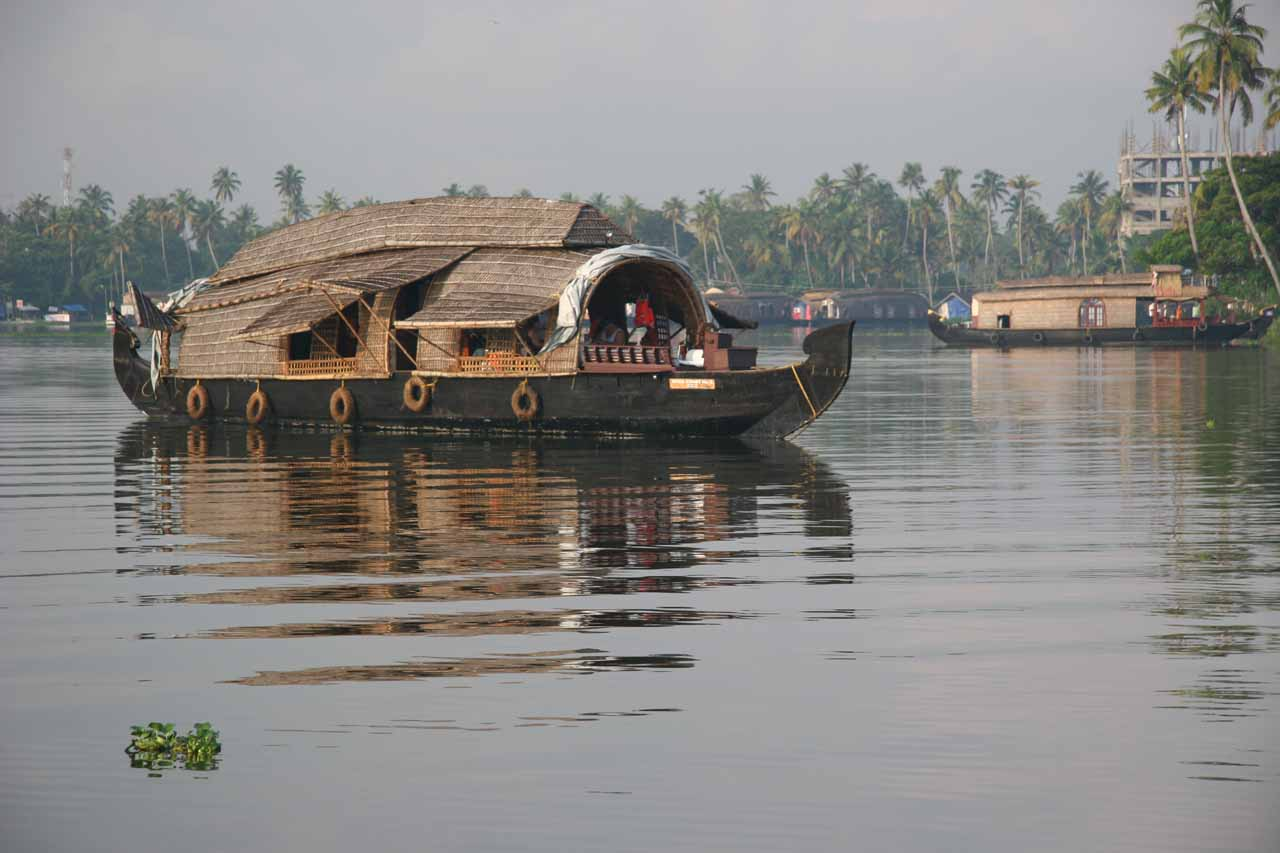 Perhaps Kerala is most known for the Backwaters, where we stayed in one of these houseboats while navigating through the many tidal lagoons flanked by local villages accustomed to this way of life