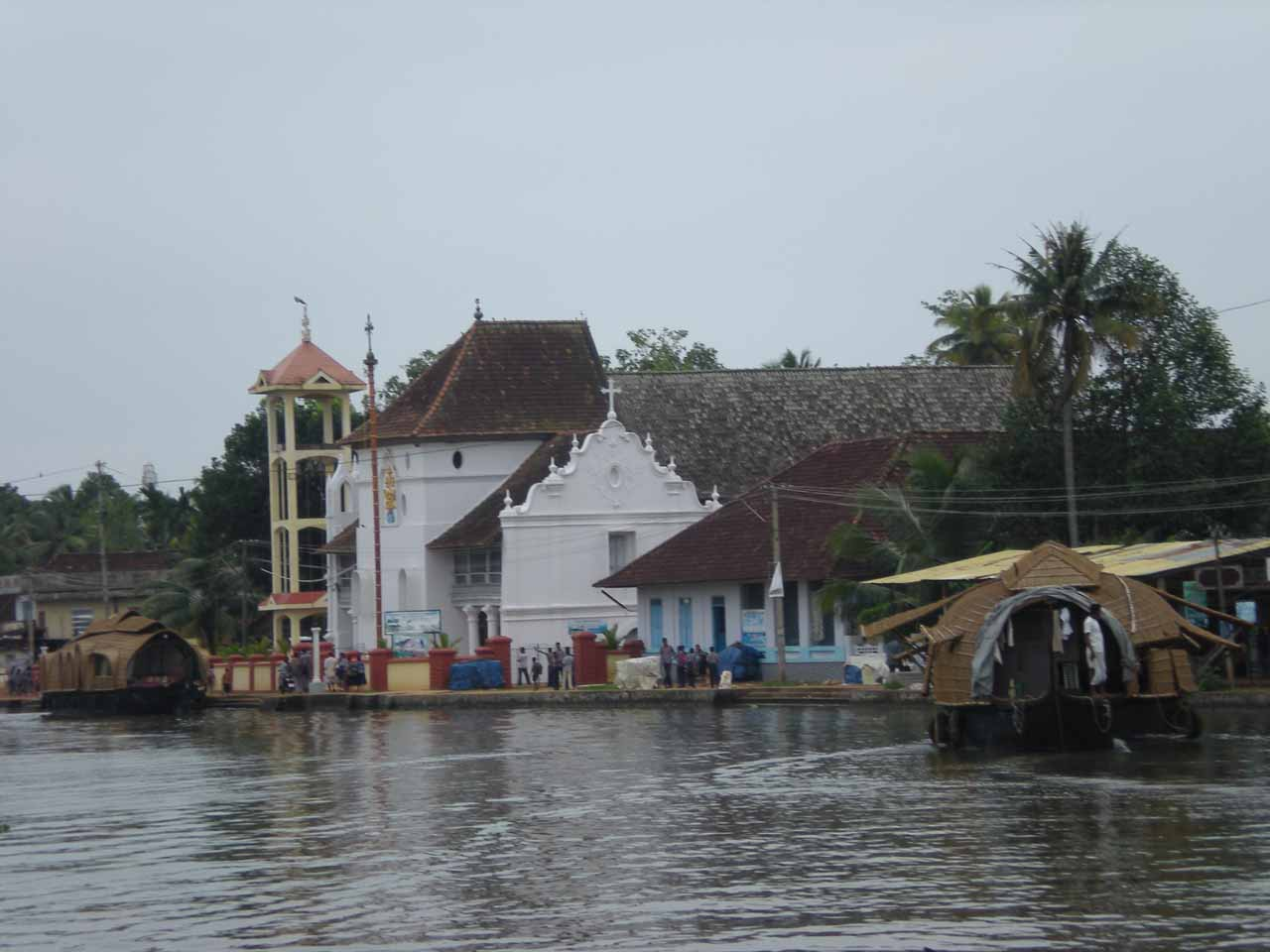 Docking near some catholic church