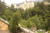 Bad_Gastein_126_07022018 - Looking across the footbridge downstream of the Lower Bad Gastein Waterfall showing the context of the ascending trail on the other side leading up to the hotels and spas further up the cliffs