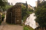 Bad_Gastein_127_07022018 - This wooden wall appeared to be set up to block the mist coming from the Lower Bad Gastein Waterfall