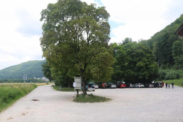 Bad_Urach_Waterfall_010_06232018 - Looking back at the car park closest to the trailhead for the Urach Waterfall