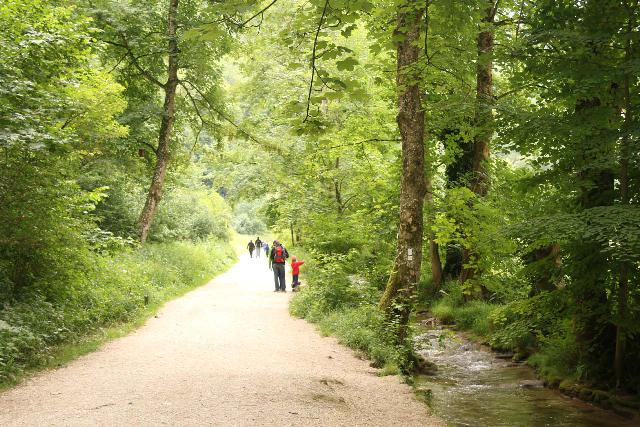 Bad_Urach_Waterfall_019_06232018 - The easy and flat Urach Waterfall Trail followed alongside the Bruhlbach, which was used extensively by kids and by kids at heart for cooling off